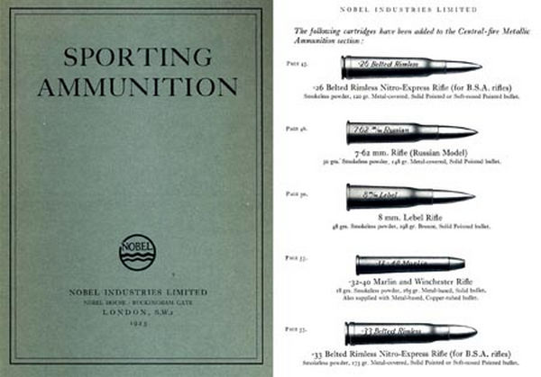 Nobel 1925 Sporting Ammunition Catalog