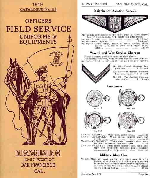 Pasquale Army Outfitters (San Francisco) 1919