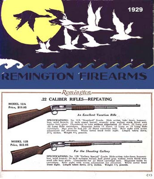 Remington 1929 Firearms Catalog