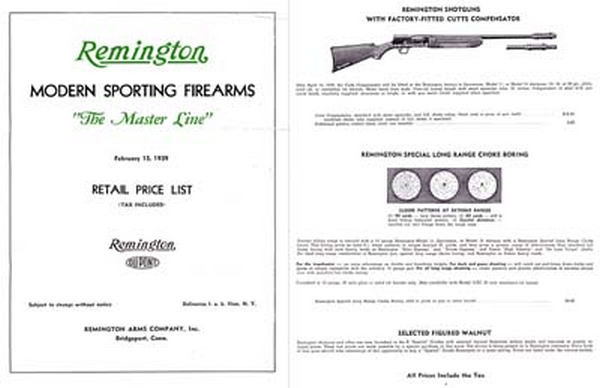 Remington 1939 Arms Catalog