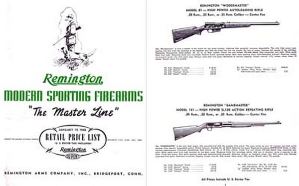 Remington 1940 Arms Catalog