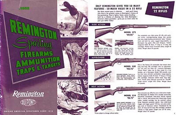 Remington 1955 Arms Catalog