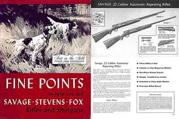 Savage 1950 Stevens Fox Product Guide