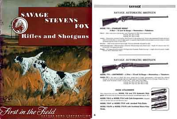 Savage 1951 Stevens Fox Catalog