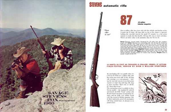 Savage 1960 Stevens Fox Catalog