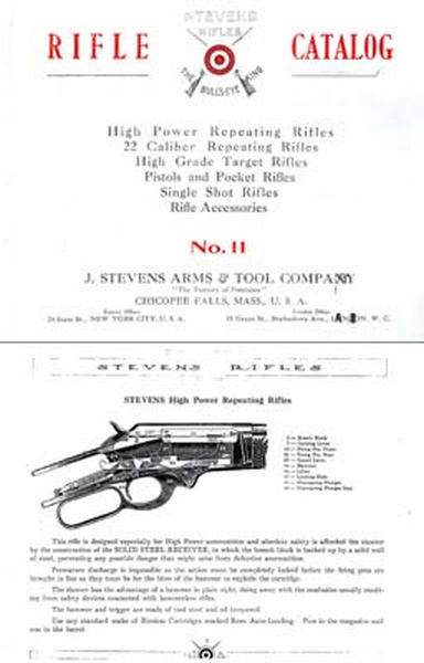 Stevens c1913 No 11 Rifle - Pistol Catalog