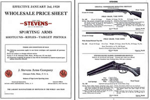 Stevens 1928 Wholesale Catalog