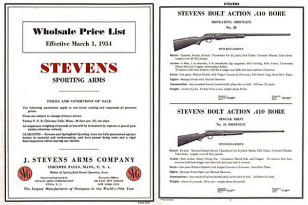 Stevens 1934 Wholesale Catalog