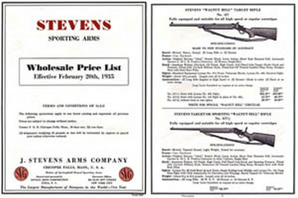 Stevens 1935 Wholesale Catalog