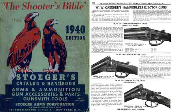 Stoeger 1940 Arms and Ammunition Catalog