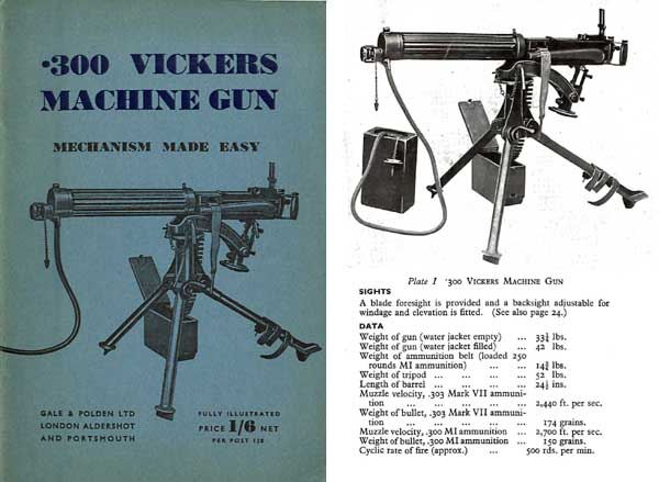 Vickers Machine Gun, .303 Manual 1944