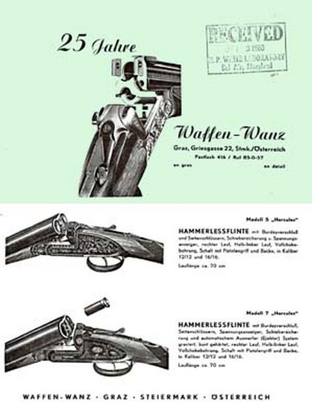Waffen-Wanz (Austrian) c1950 Catalog