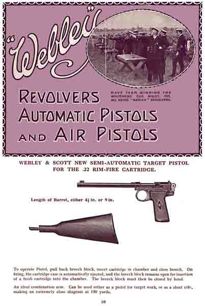 Webley & Scott 1925 Revolvers, Pistols & Air Guns Catalog