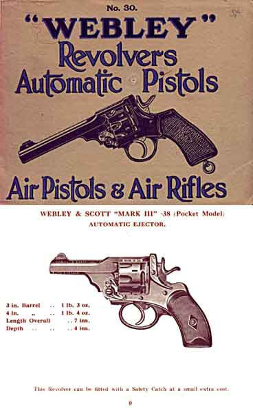 Webley & Scott 1930 Revolvers, Automatics, Guns, etc. - Catalog