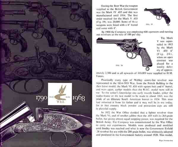 Webley & Scott 1790-1968 History and Gun Catalog