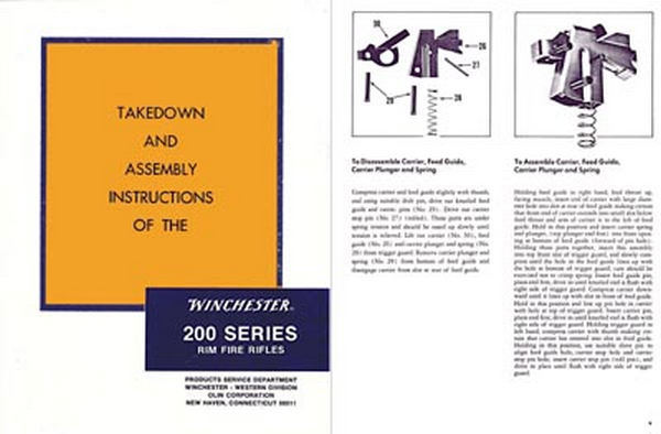 Winchester Model 200 Series Complete Takedown Manual - PDF DOWNLOAD VERSION
