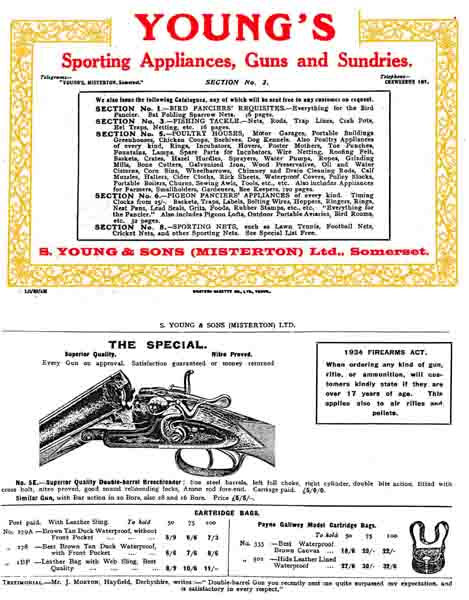 Young's Guns & Sundries (UK) 1939 Catalog