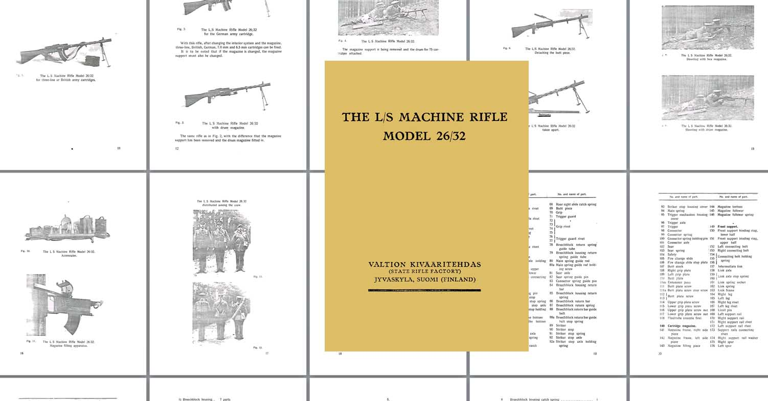 Finnish 1933 LS 26-32 Machine Rifle Manual