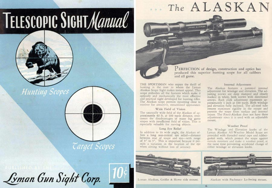 Lyman 1953 Telescopic Sight Manual