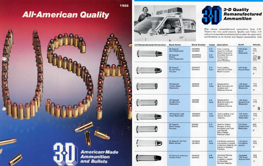3D Ammunition & Bullets 1988 Catalog, Doniphan, Nebraska