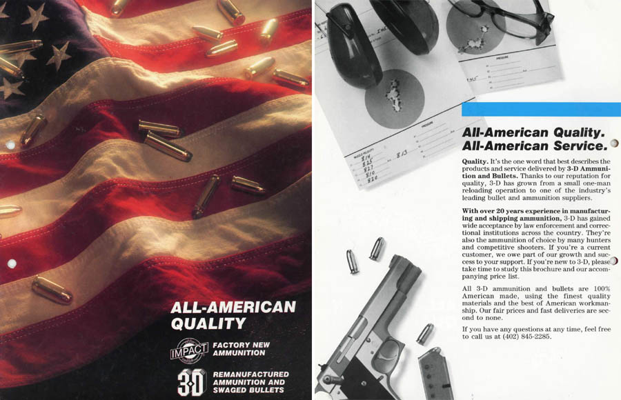3D Ammunition & Bullets 1990 Catalog, Doniphan, Nebraska