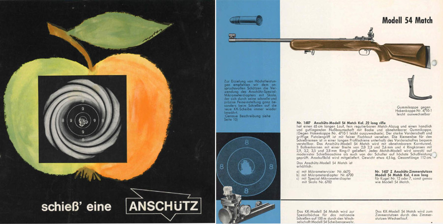 Anschutz 1960 Match Rifle Catalog (in German)