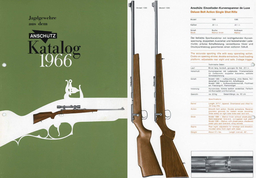 Anschutz 1966 Rifle Short Catalog (in German)