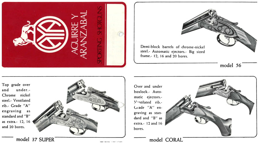 AYA c1965 Shotgun Catalog