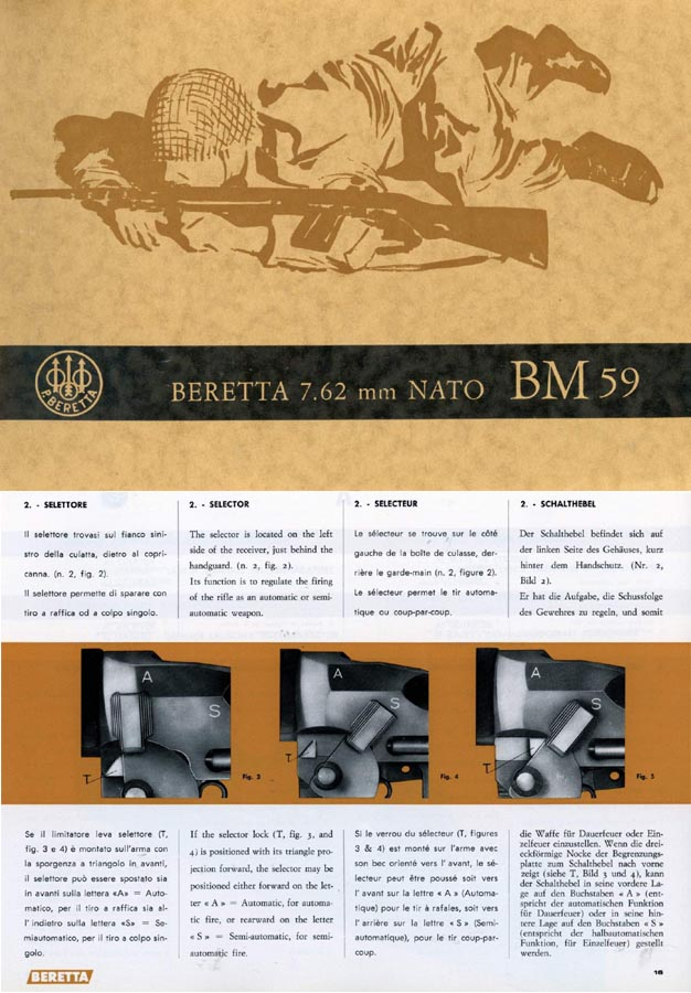 Beretta 1966 FAL BM59 Garand Select Fire Assault Rifle Catalog