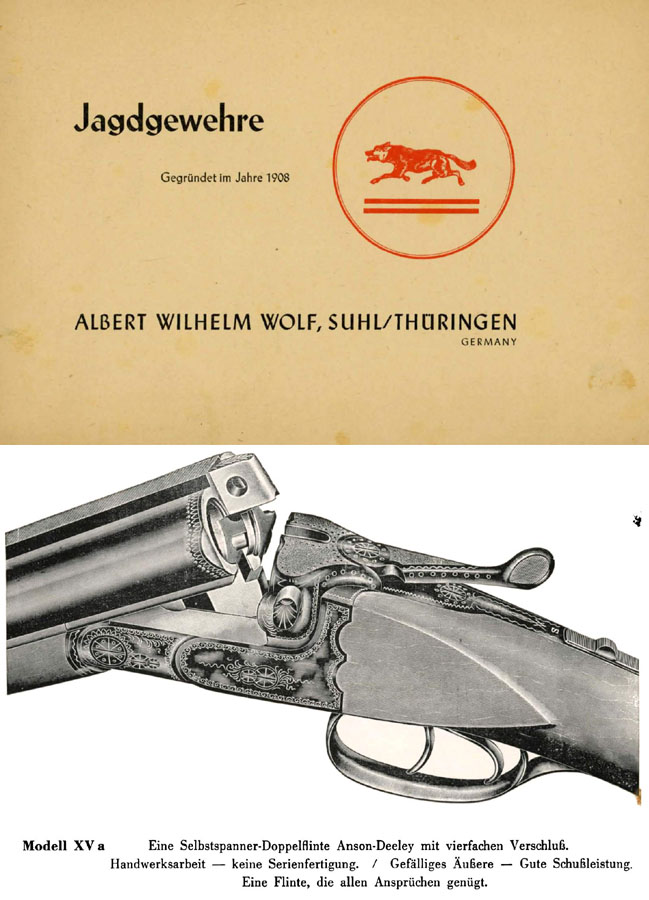 Albert Wilh Wolf 1957 Gun Catalog (Suhl, Germany)