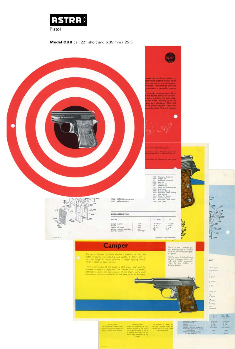 Astra Cub c1967 Pistol Flyer/Manual