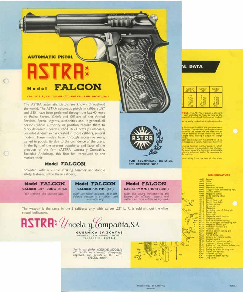 Astra Falcon 1962 Flyer/Manual