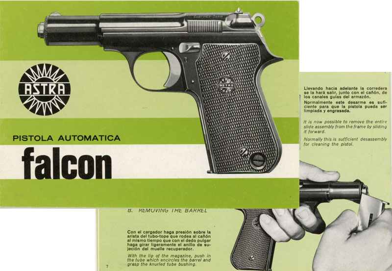Astra Falcon c1975 4000 Pistol Manual