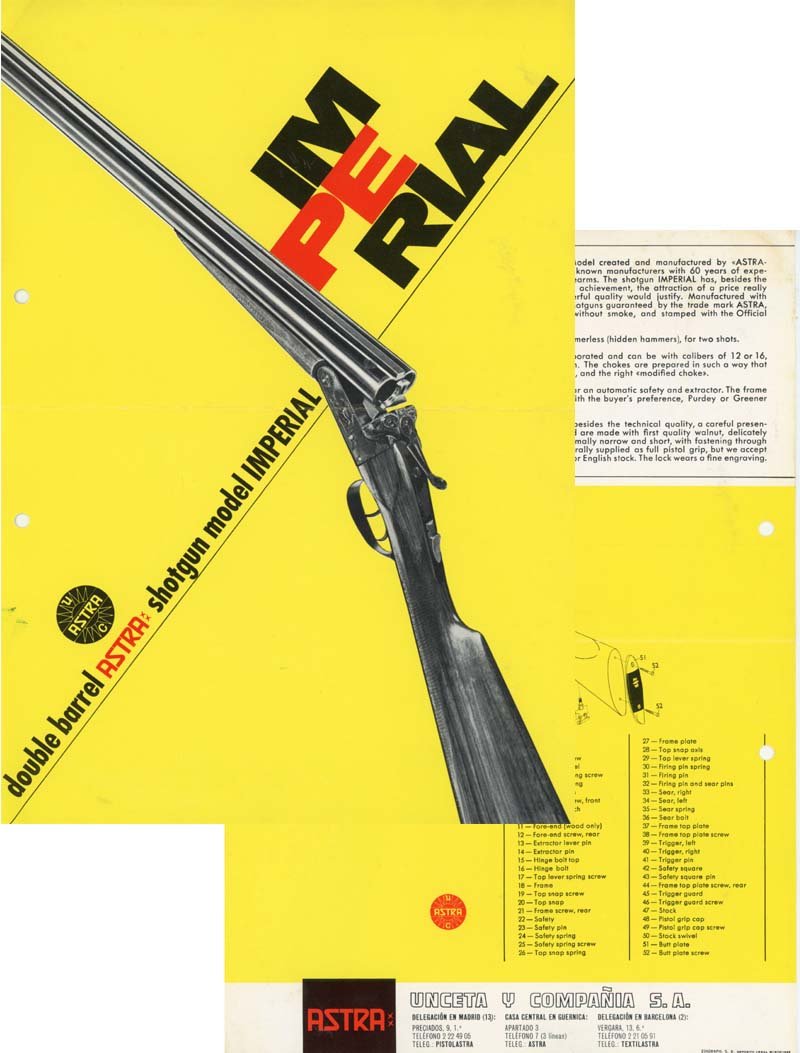 Astra Imperial 1966 Shotgun Flyer/Manual