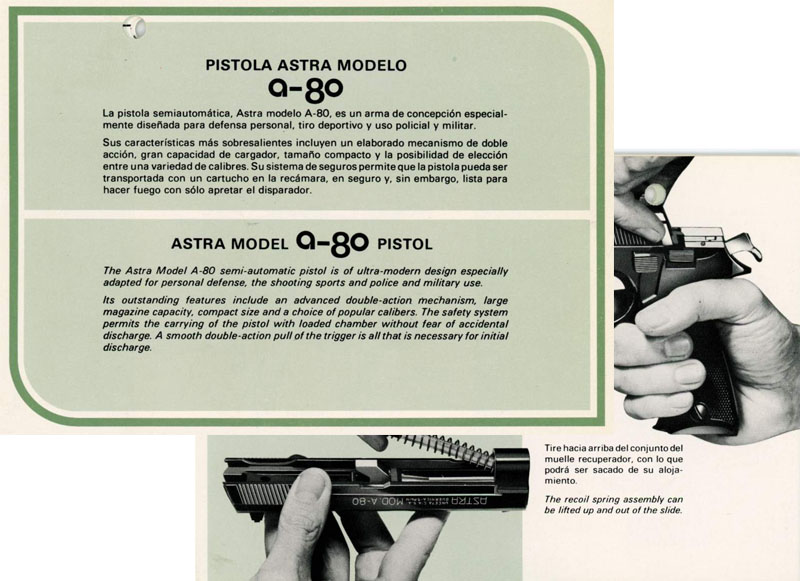 Astra Model A-80 Pistol Manual