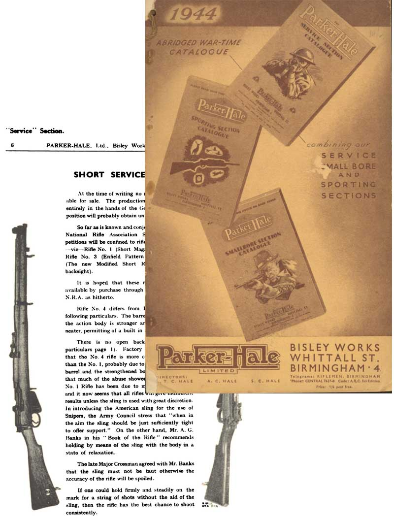Parker Hale 1944 War-Time Small Bore & Sporting Catalogue