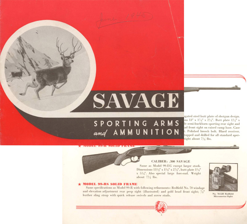 Savage 1945 Gun Catalog