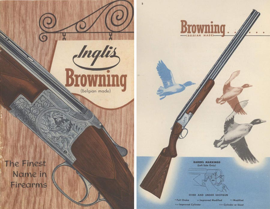 Browning c1955 Arms Catalog by John Inglis Co, Toronto, Canada.