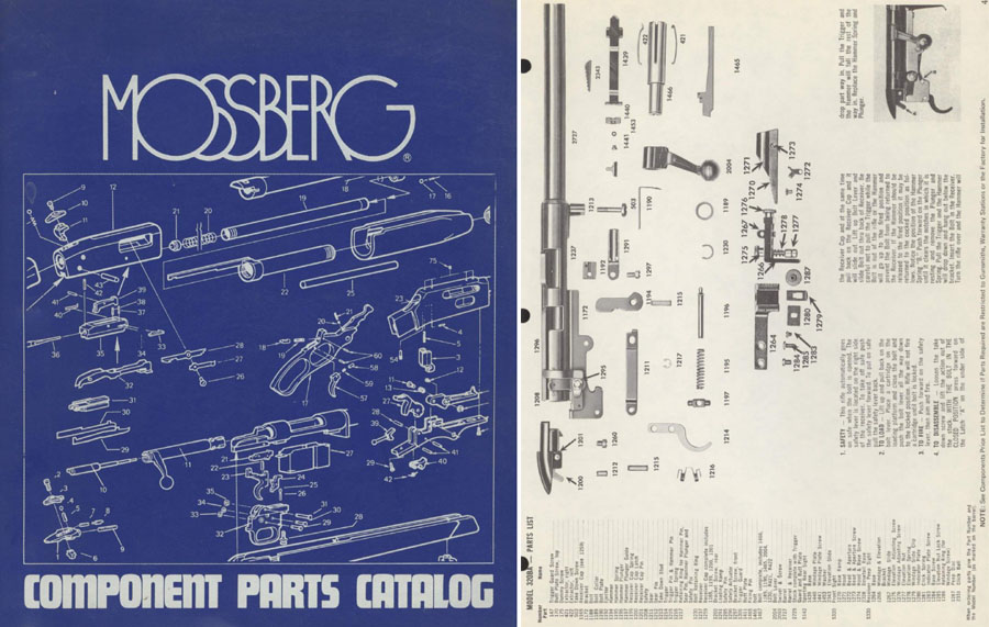 Mossberg 1977-78 Parts Catalog