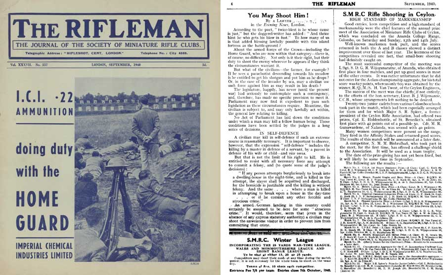 The Rifleman 1940 (UK) Journal of Miniature Rifle Club