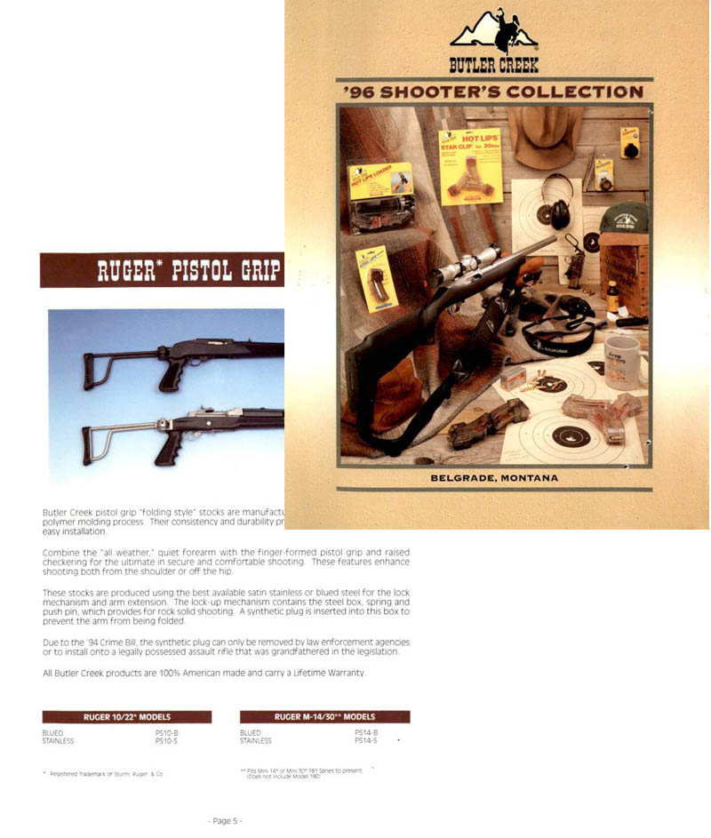 Butler Creek 1996 Gun & Accy Catalog- Belgrade, MT