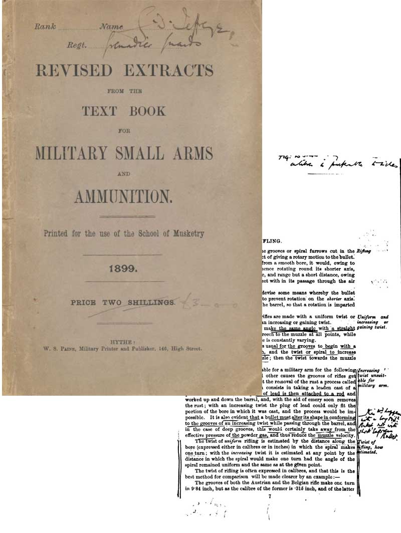Military Small Arms & Ammo 1899 Revised Extracts-UK