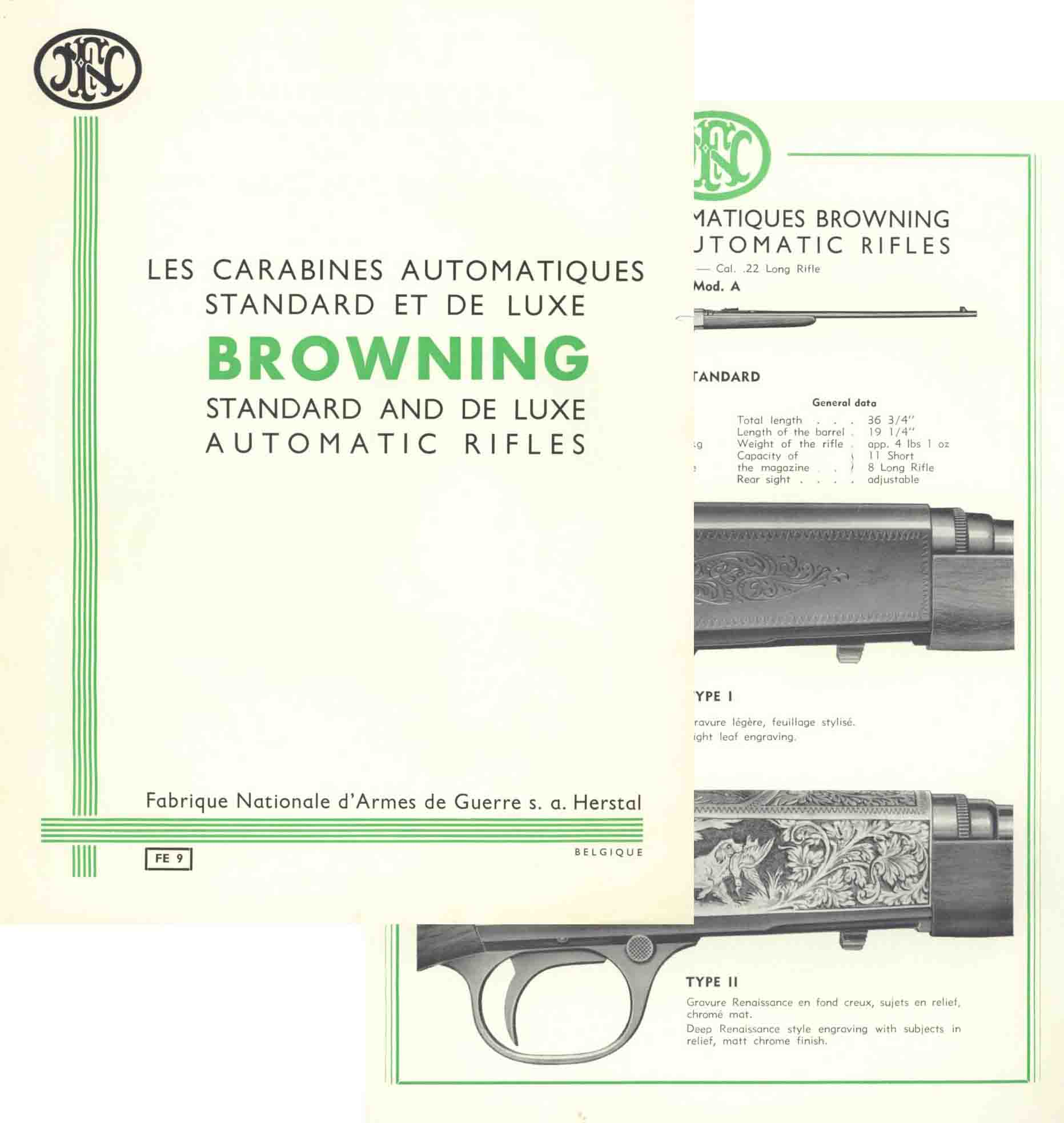 Browning FN c1954 Model A & B Automatic Rifles