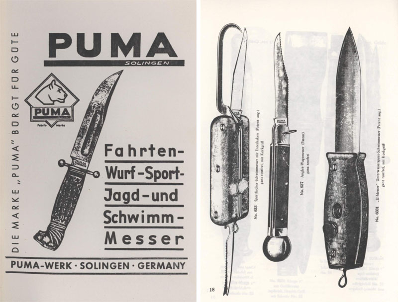Puma-Solingen c1960s Hunting and Clasp Knife Catalog
