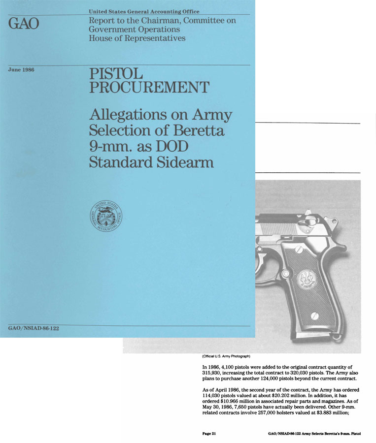 Beretta 1986 - 9mm Allegations on Army Selection