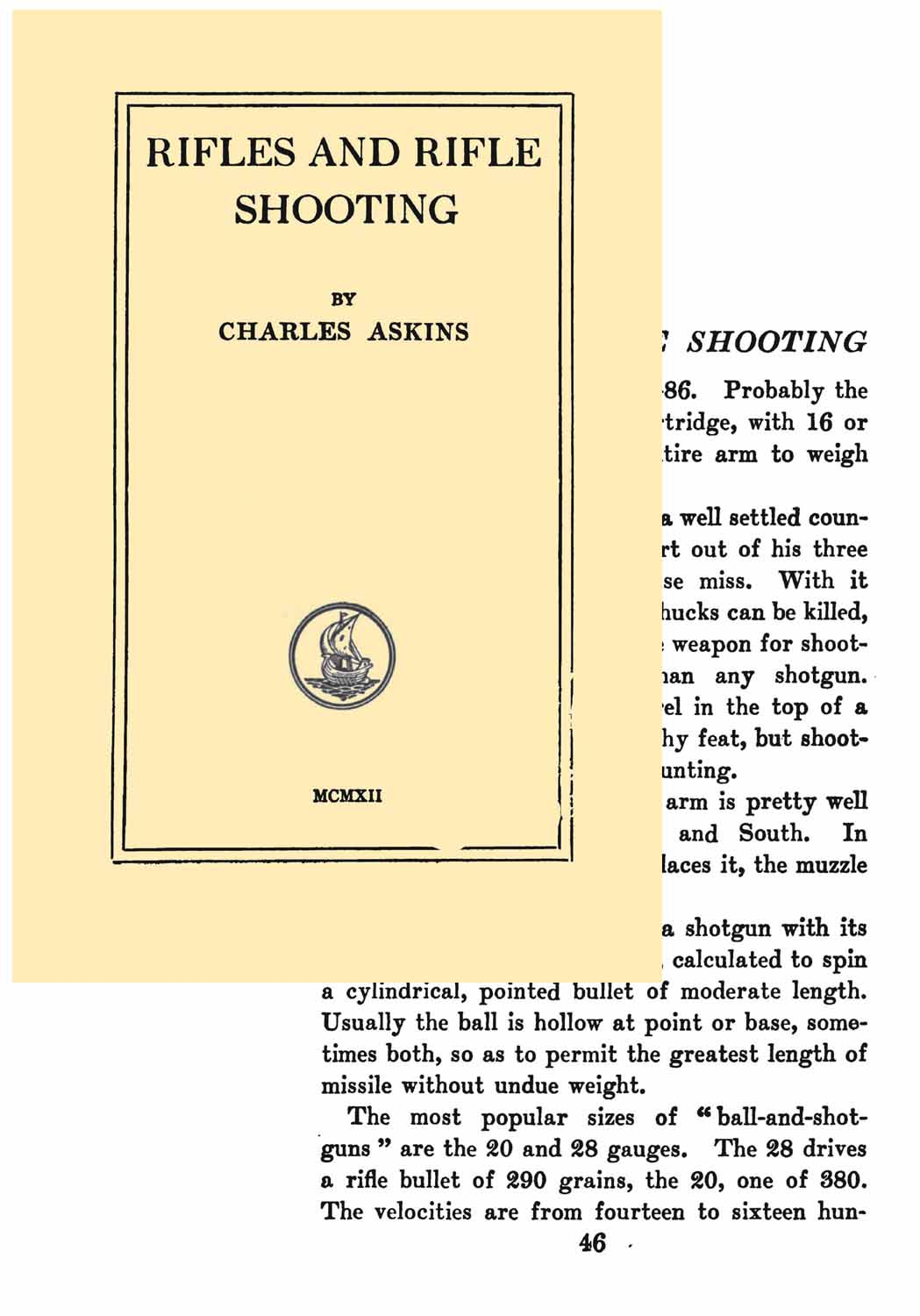Rifles and Rifle Shooting 1912 Askins