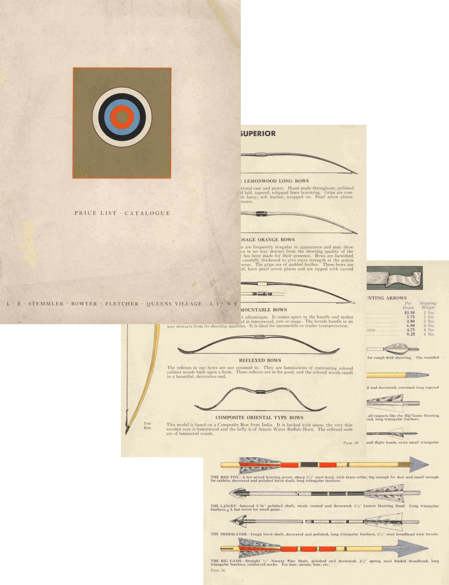 Stemmler 1939 Archery Catalog