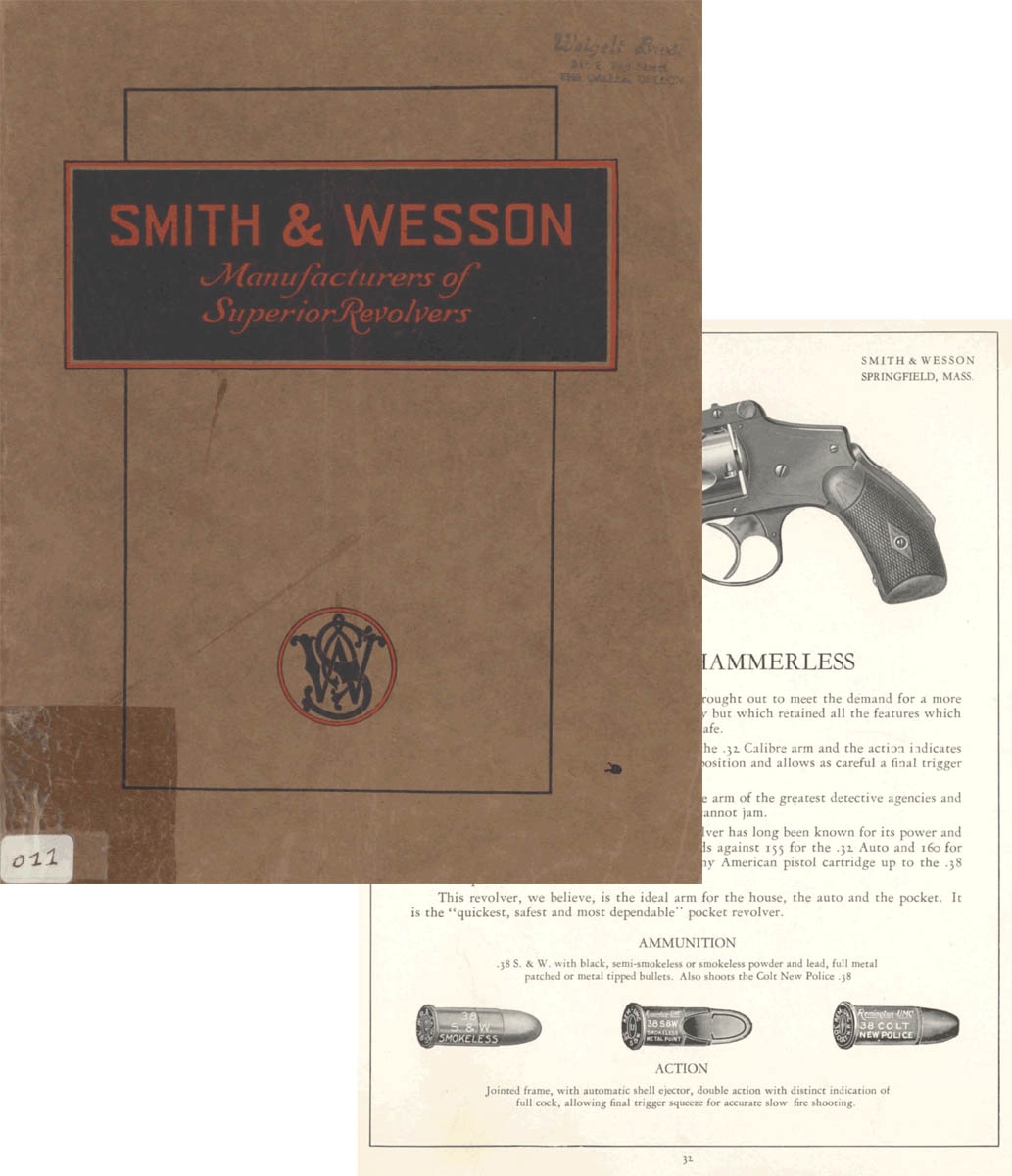 Smith & Wesson 1925 Gun Catalog (re-issued by S&W from 1925 into 1930)