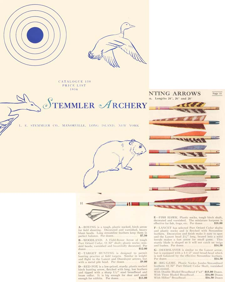 Stemmler 1956 Archery Catalog