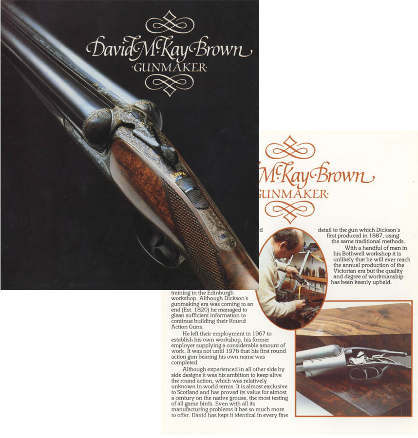 David McKay Brown c1990 Gun Catalog (Glasgow)